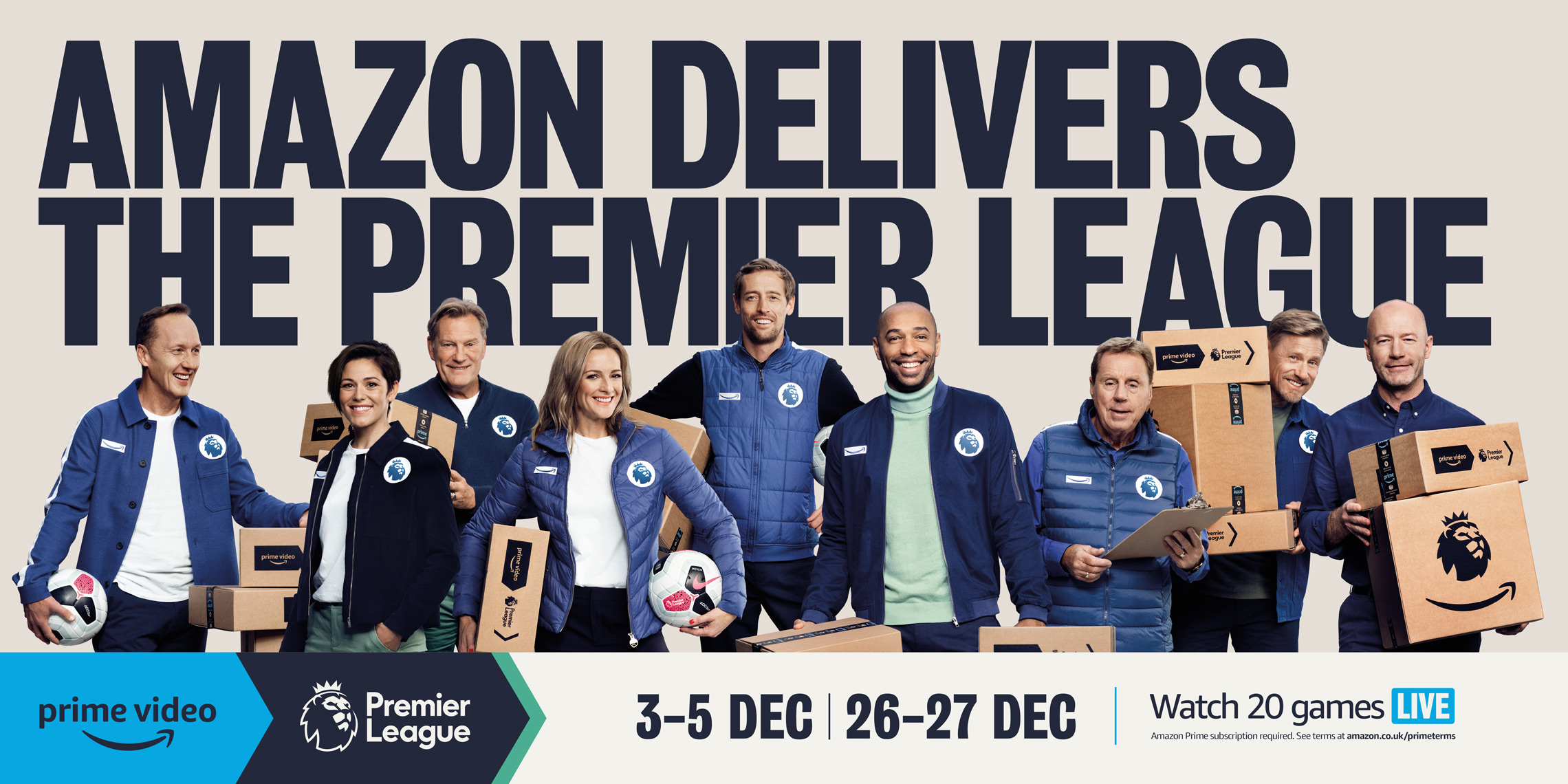Amazon September premiership advertising 2019