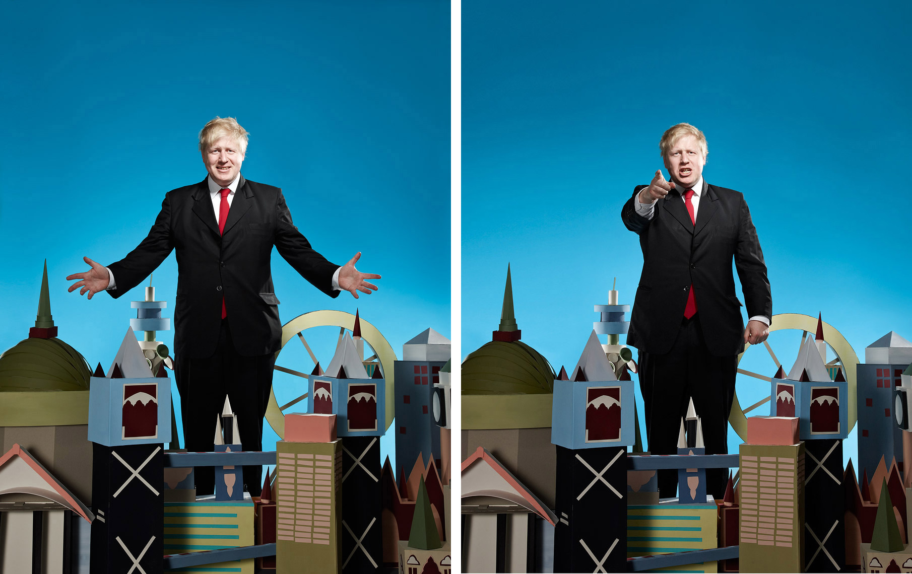 Boris Johnson Celebrity Portrait Guardian weekend Magazine