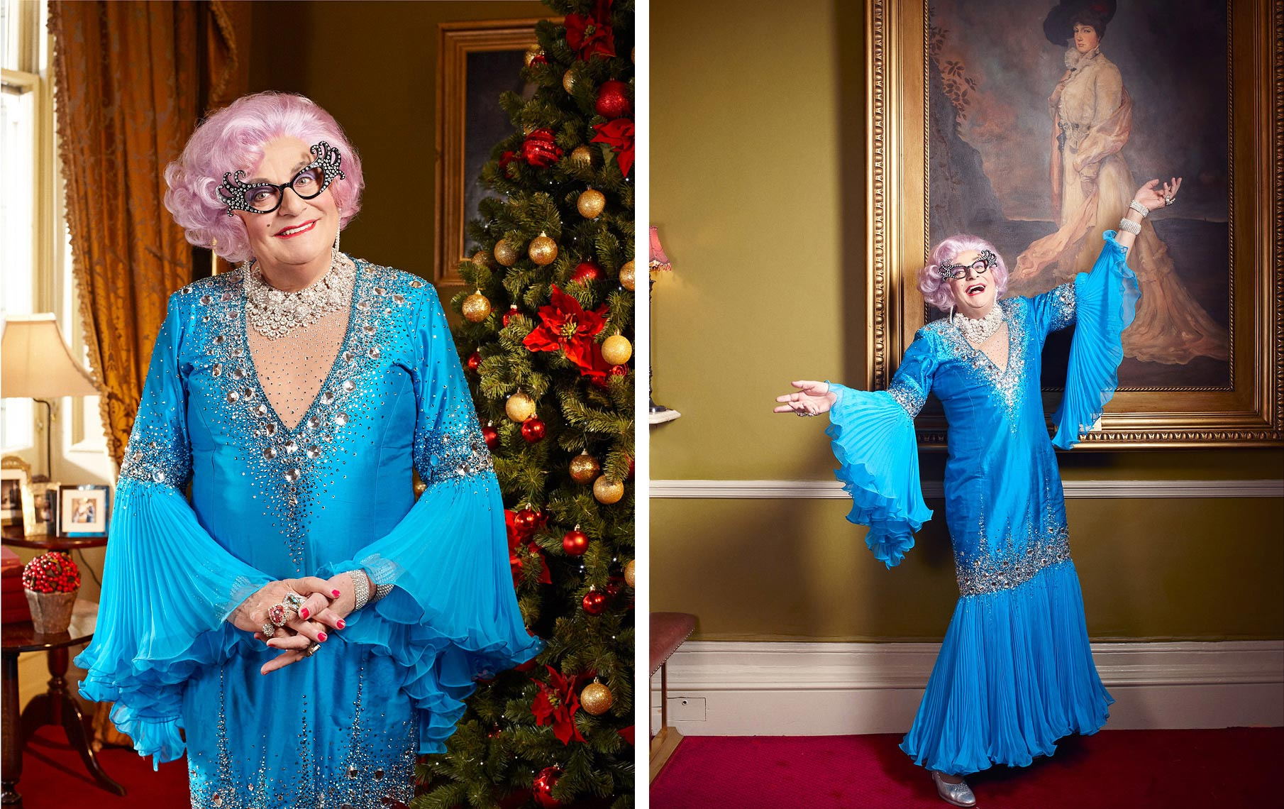 Dame Edna Everidge Celebrity  Portrait Music Advertising Theatre Poster Old Vic BAFTA Trafalgar Photographer