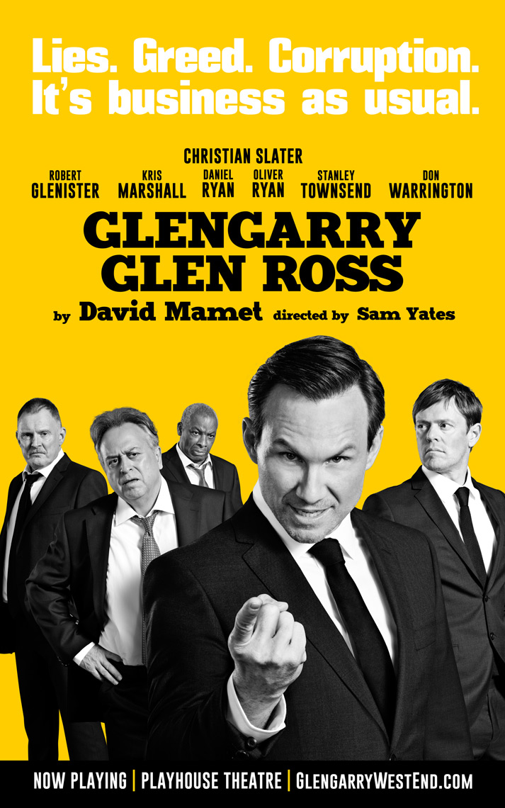Glengarry Glen Ross Key art Christain Slater