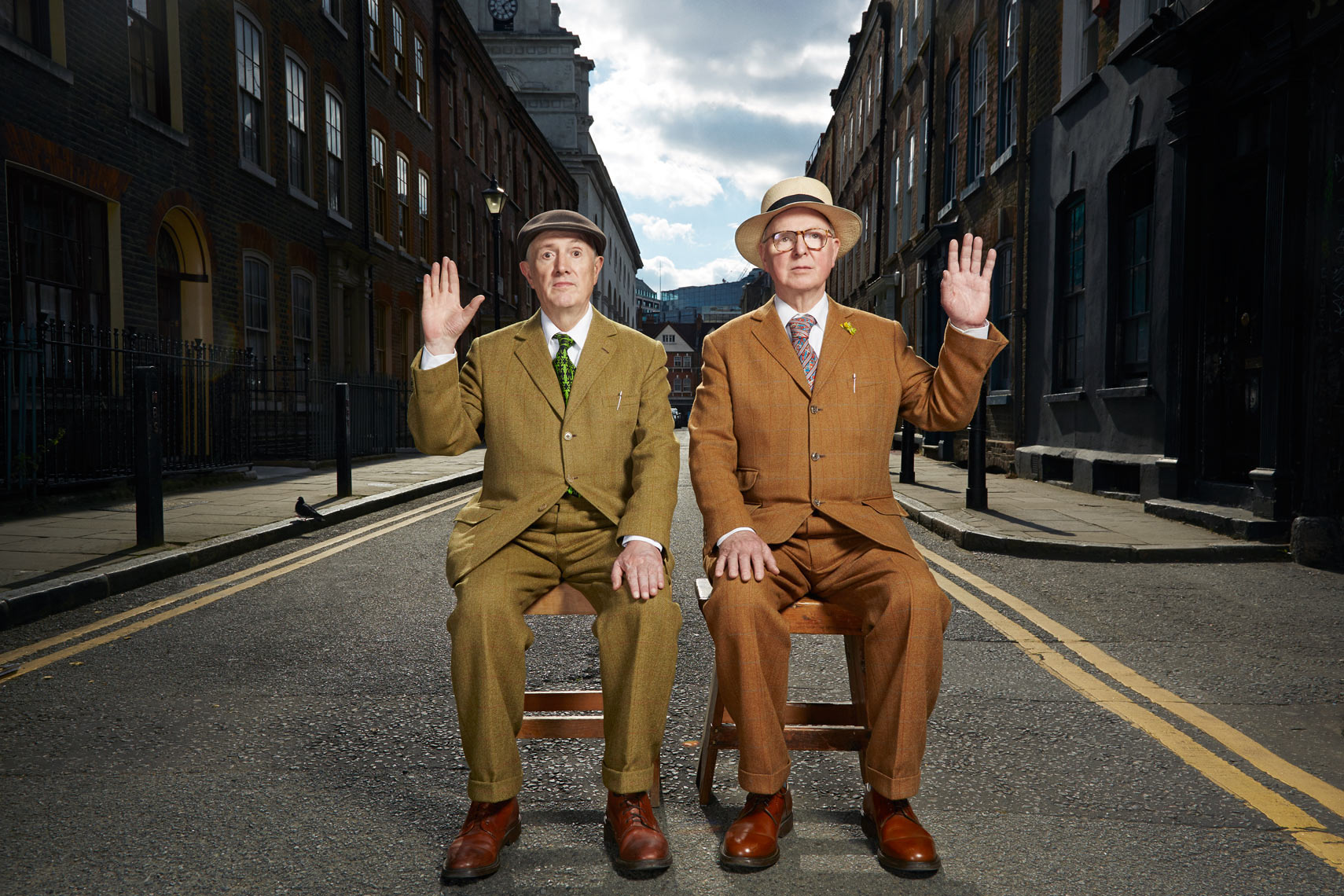 Gilbert & George Portrait Music Advertising