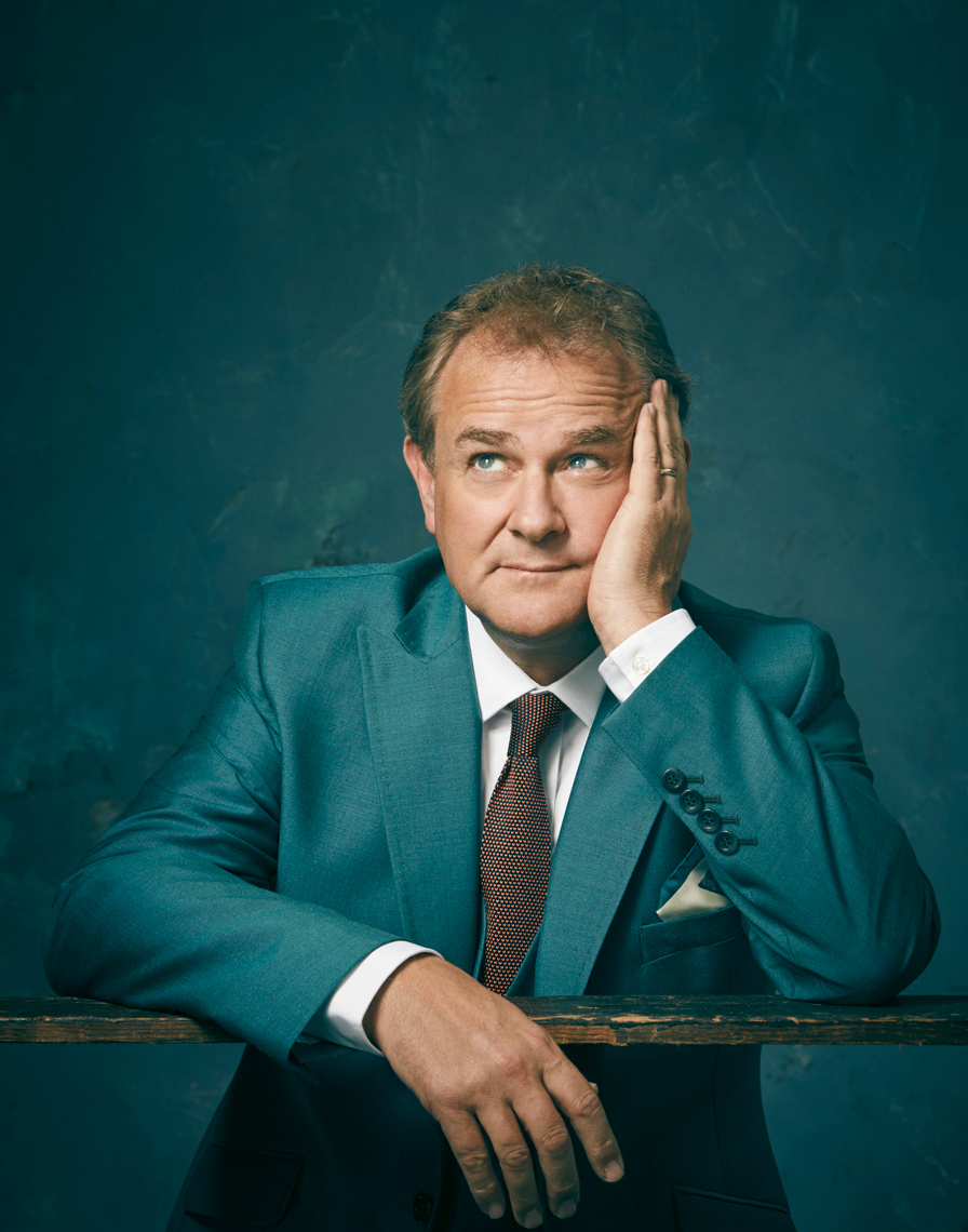 Hugh Bonneville photographed for Saga magazine