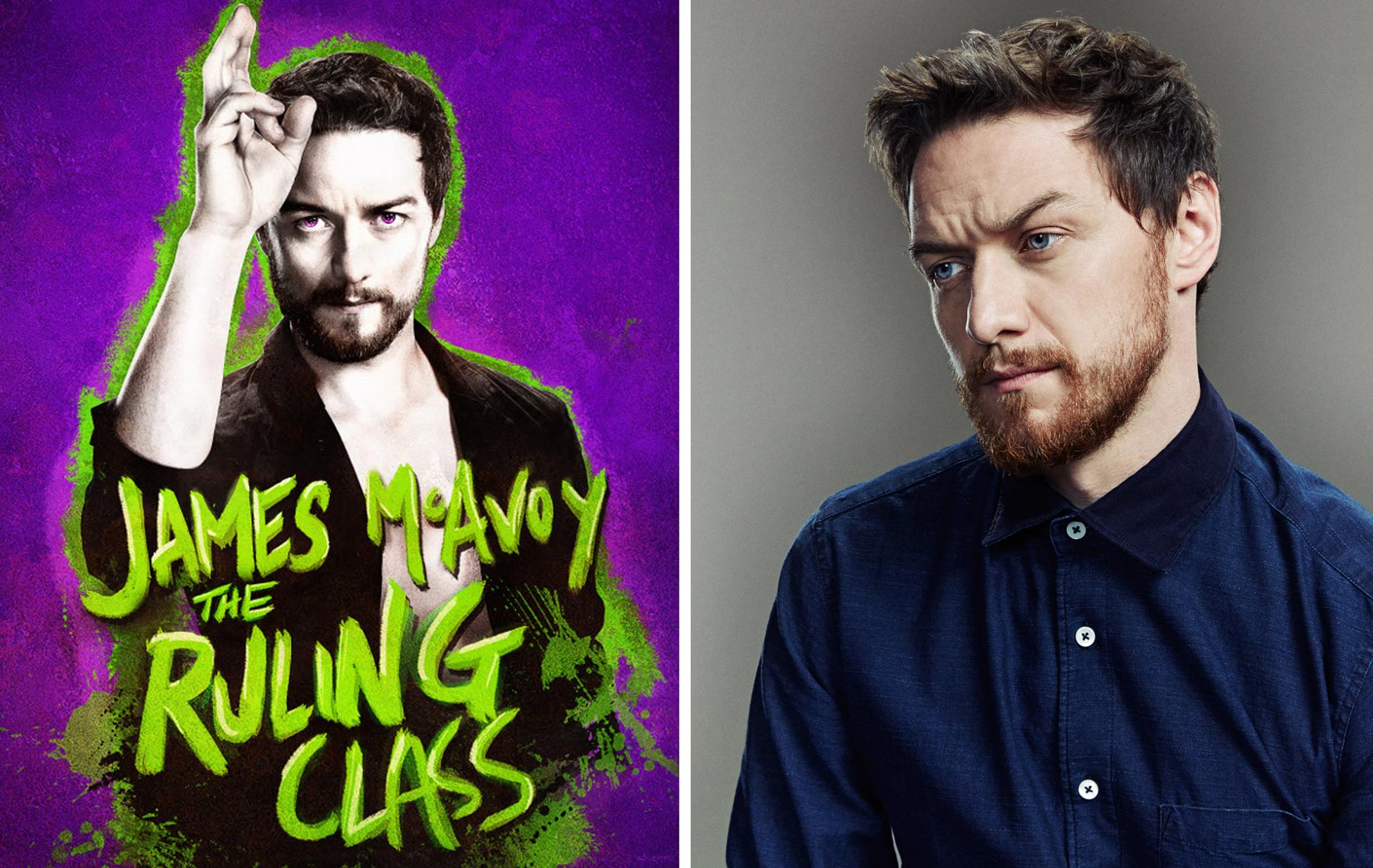 James McAvoy Trafalgar Theatre Ruling Class