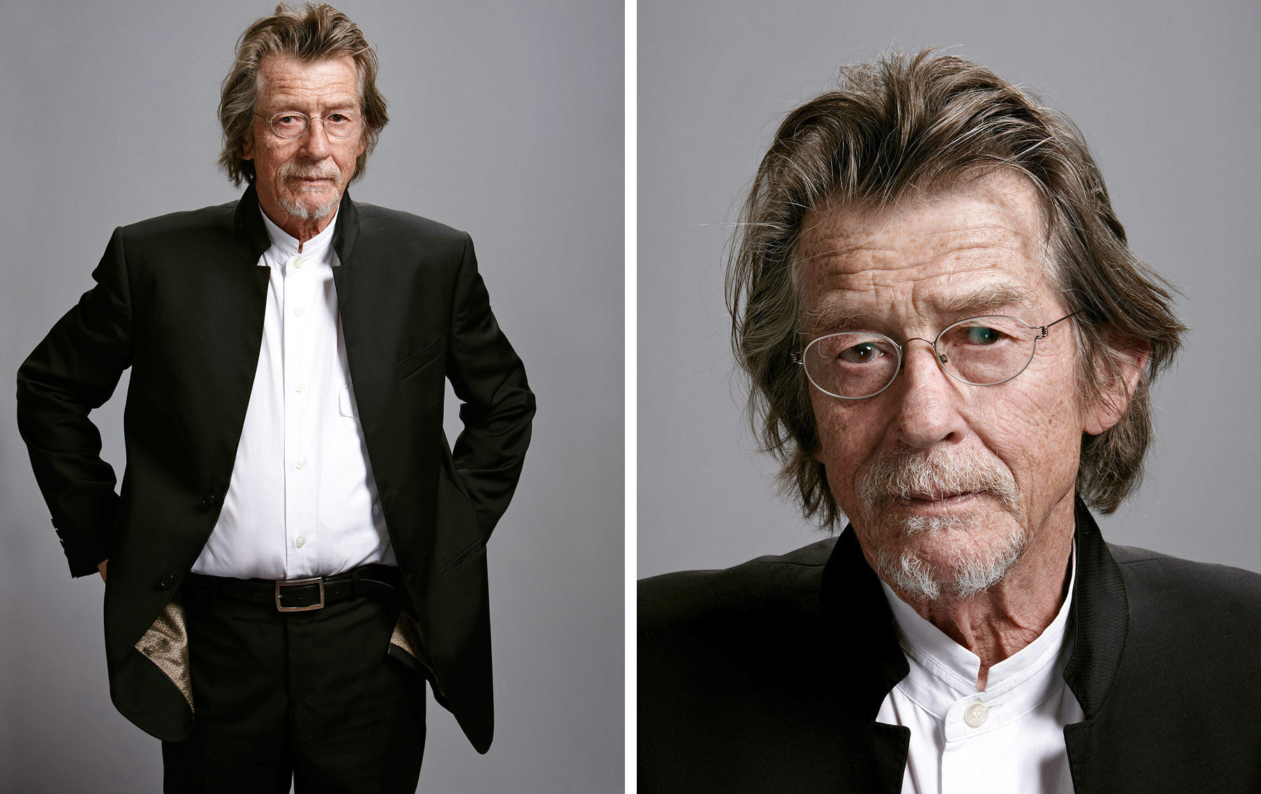 John Hurt  Portrait Music Advertising Theatre Old Vic BAFTA Trafalgar