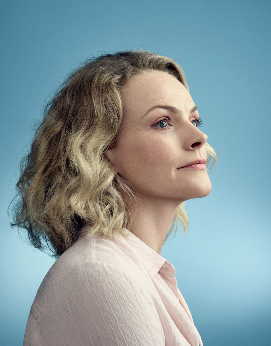 Maxine Peake shot for Barbican Avalanche Feast Design