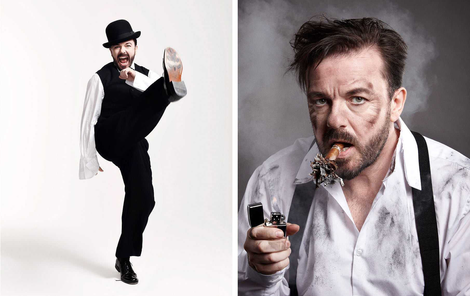 ricky gervais Portrait Music Advertising