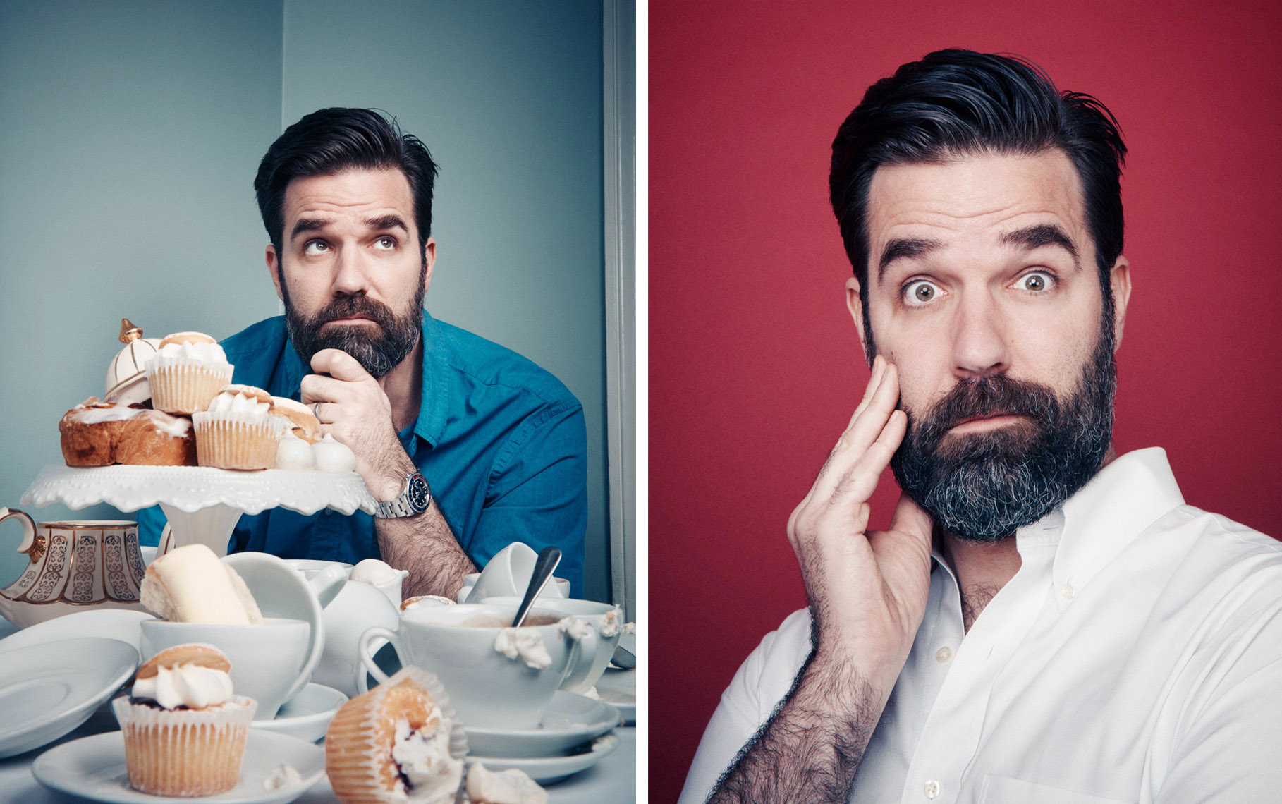 Rob Delaney photographed for Boston Globe