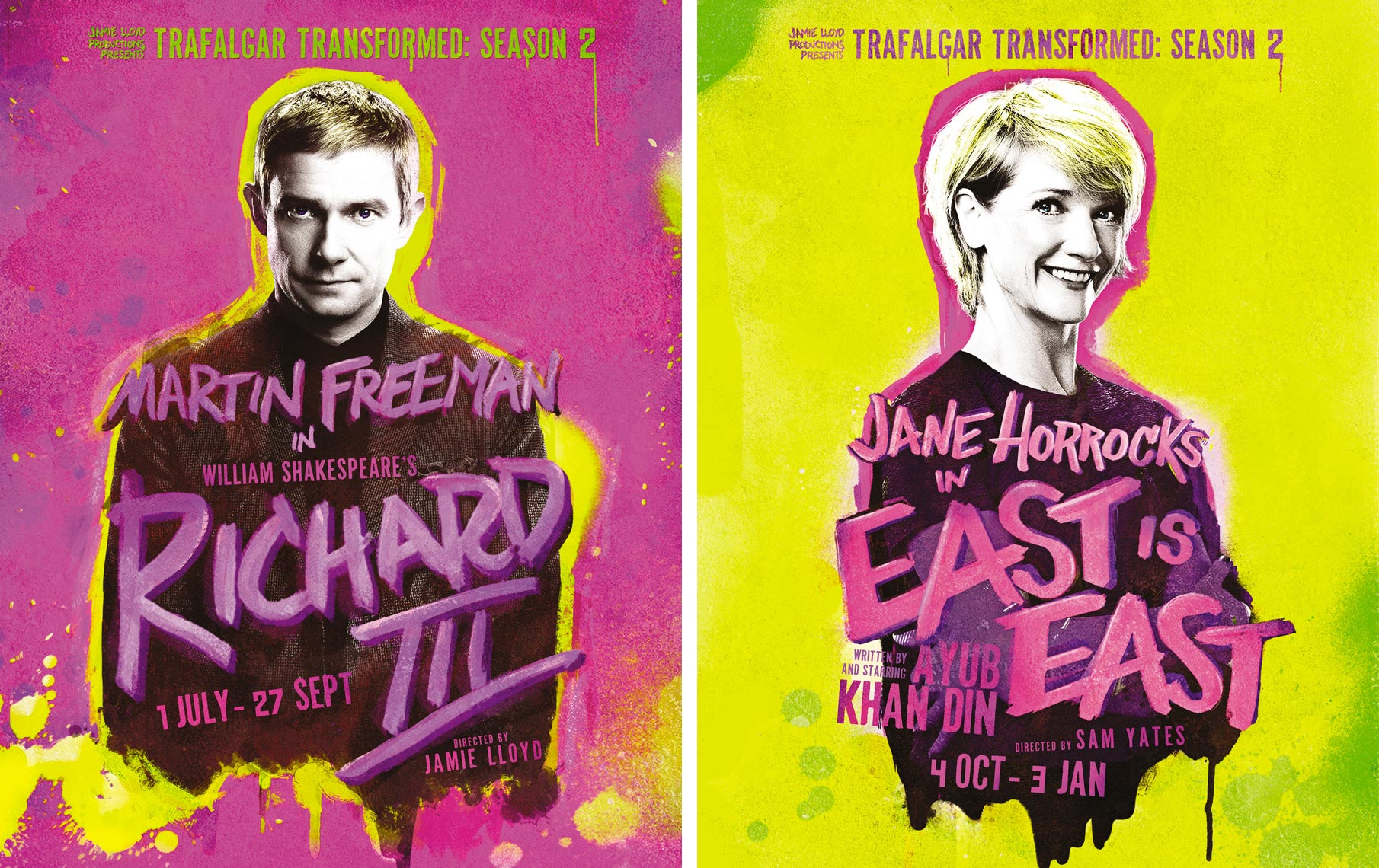 Trafalgar Transformed Jane Horrocks Martin Freeman  Portrait Music Advertising Theatre Old Vic BAFTA Trafalgar Photographer