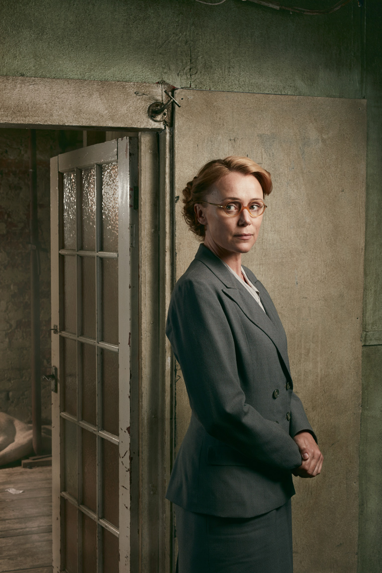 Press publicity portraits Keeley Hawes in Jerusalem Channel 4